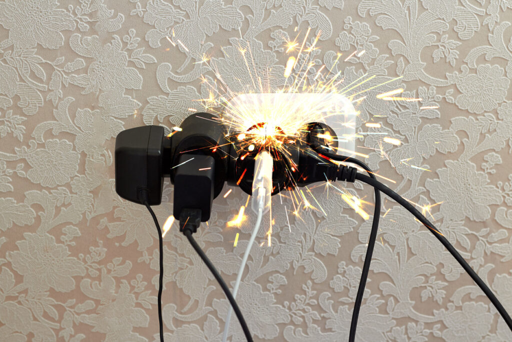 Overloaded Electrical Sockets