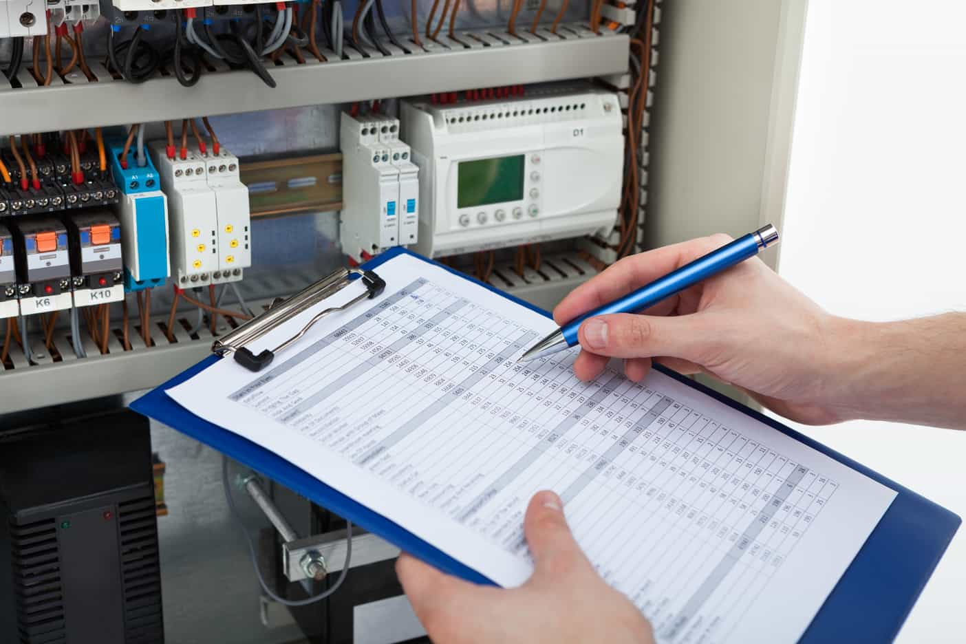 Electrical Contractor Testing Electrics