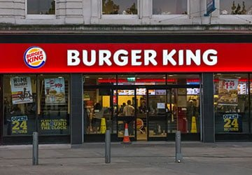 burger king shop front image