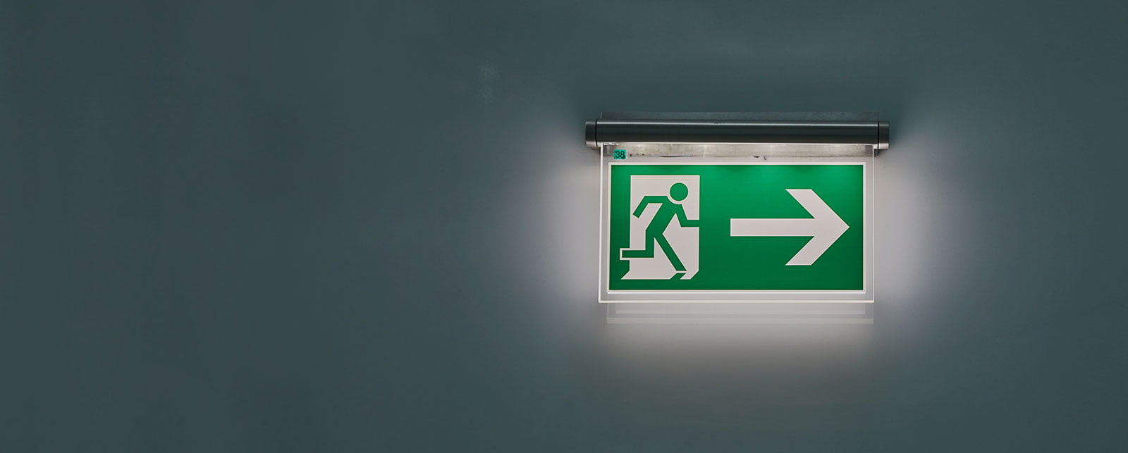 fire alarm exit sign slider image