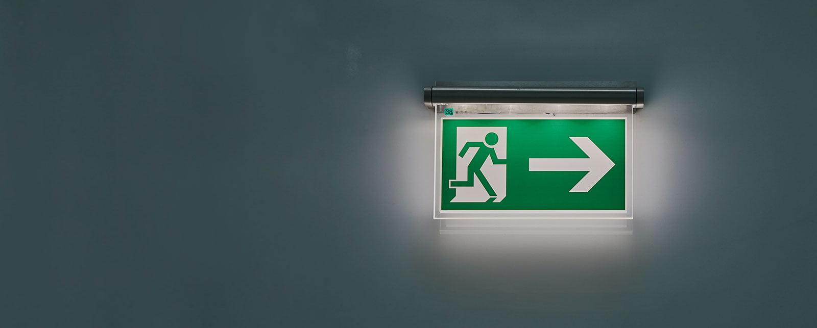 fire alarm exit sign slider image