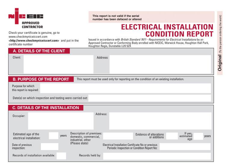 EICR Certificate